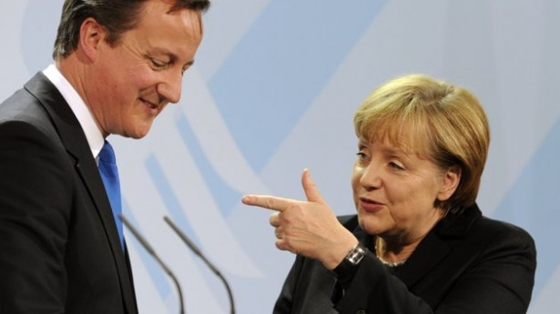 David Cameron e Angela Merkel in una foto di repertorio
