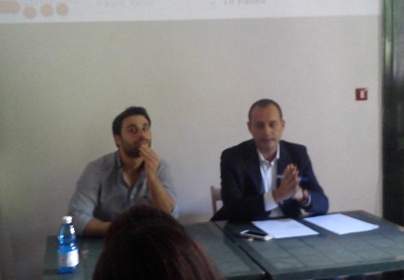 Antonio Sunseri, operatore LAP,(a sx) e Antonio Ferrante, presidente Vivo Civile (a dx)