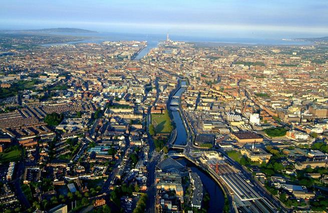 veduta di Dublino