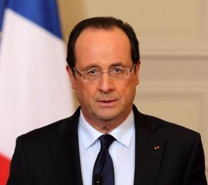 Il Presidente francese, Francois Hollande