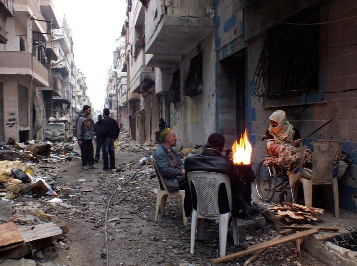 Uno scorcio di Homs
