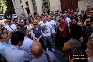 Il sit-in  di questa mattina a Roma