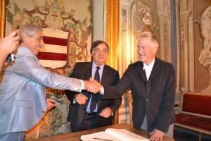 Tommaso Dragotto, Leoluca Orlando e David Lynch