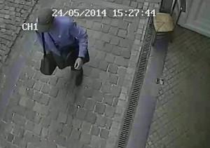 Il sospettato nel video della telecamera di sicurezza