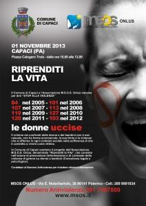 Locandina 1 novembre 2013 Capaci