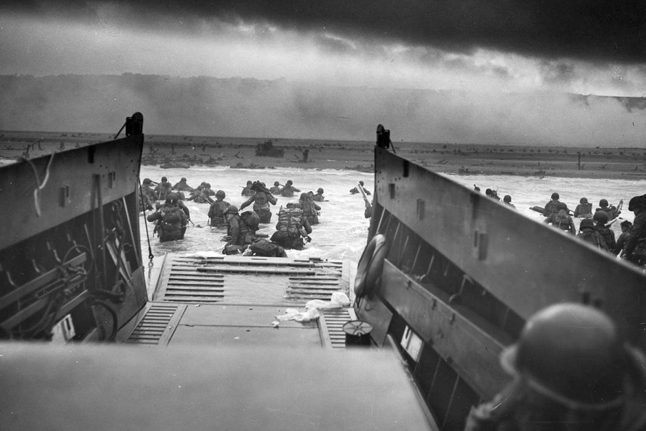Un momento dell'assalto a Omaha Beach