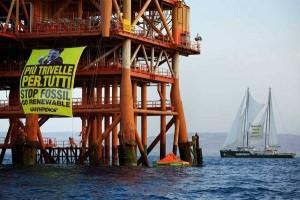 Greenpeace contro le trivelle in Sicilia