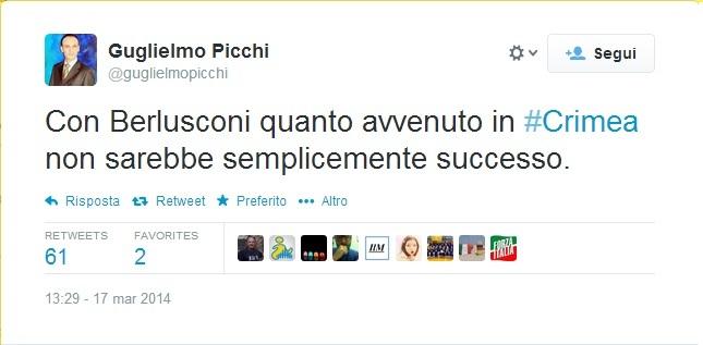 Il tweet di Guglielmo Picchi