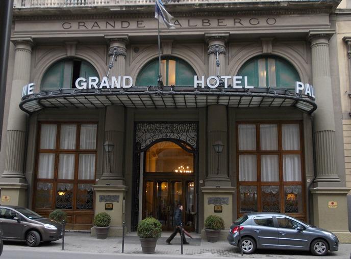 """Ingresso del """"Grand Hotel et Des Palmes"""""""