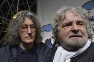 Roberto Casaleggio e Beppe Grillo