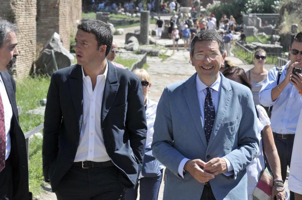 Il premier, Matteo Renzi e il sindaco di Roma, Ignazio Marino