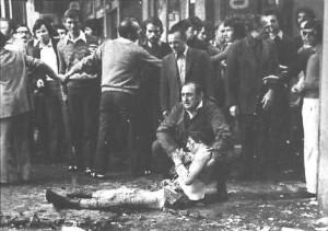 Una foto scattata il 28 maggio 1974, dopo l'esplosione della bomba