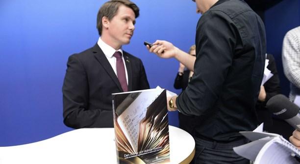 Erik Ullenhag, ministro dell'Integrazione svedese, alla presentazione del Libro Bianco