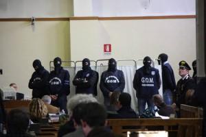 protezione audizione boss stragista mafioso collaborante Giovanni Brusca da parte del G.O.M. (Gruppo Operativo Mobile) reparto speciale di Polizia