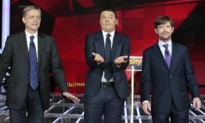 Primarie Pd, il confronto su Sky tra Renzi, Cuperlo e Civati