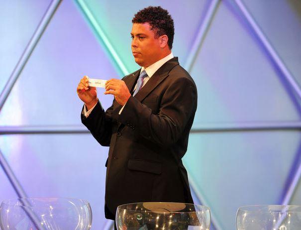 Ronaldo durante una fase del sorteggio