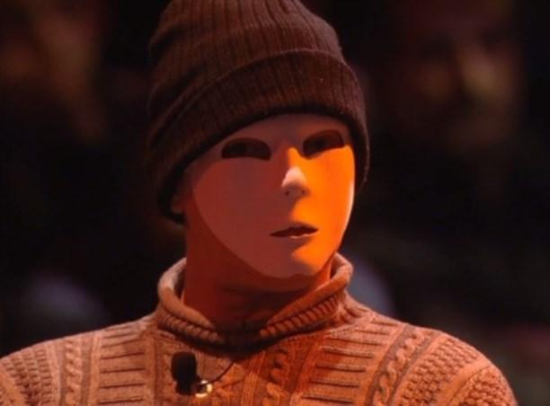 Vincenzo Scarantino, in onda ieri sera con una maschera