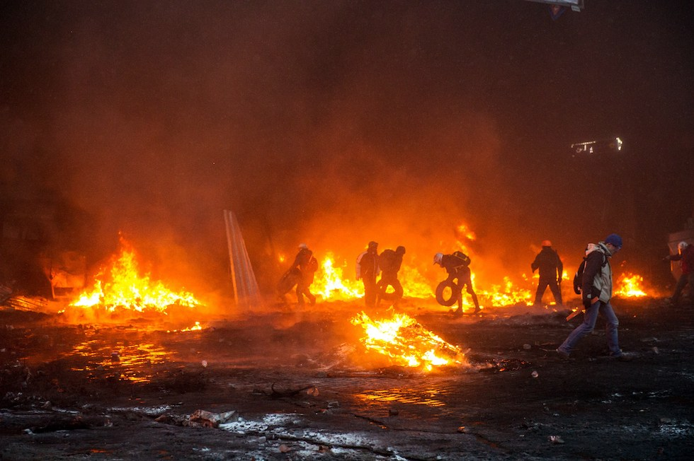 Scontri a Kiev