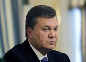 Ukrainian President Yanukovich is seen during his meeting with European Commissioner for Enlargement and European Neighbourhood Policy Fule in Kiev