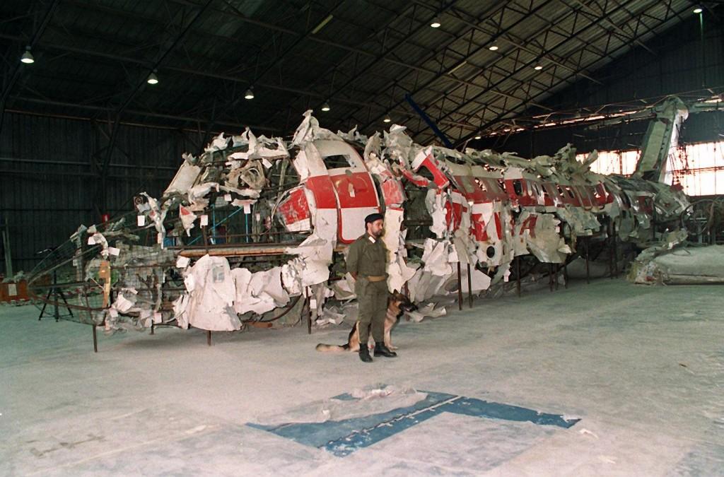 La carcassa del DC-9 Itavia